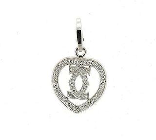Cartier 18K Gold Diamond Heart Pendant