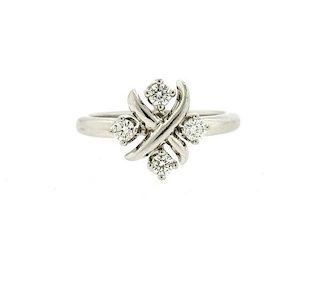 Tiffany & Co Schlumberger Lynn Platinum Diamond Ring
