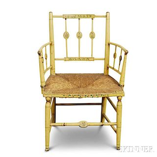 Paint-decorated Fancy Armchair