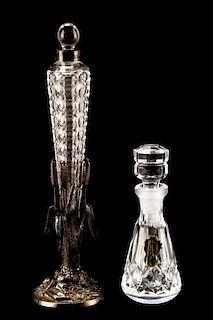 Cut Glass Perfume Vial & Waterford Perfume Bottle