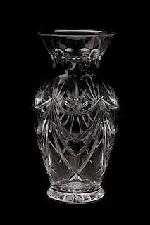 Large Waterford Cut Crystal 'Georgetown' Vase