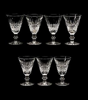 """Set of 7 Waterford """"Tramore"""" White Wine Goblets"""
