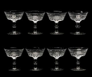 """Set of 8 Waterford """"Tramore"""" Champagne Coupes"""