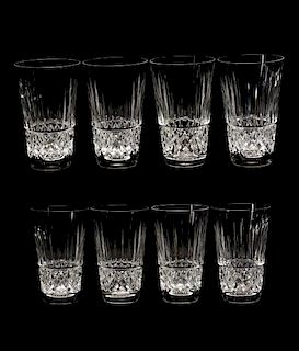 """Set of 8 Waterford """"Tramore"""" Collins Glasses"""
