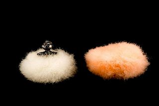 Two Swan's Down Feather Powder Puffs