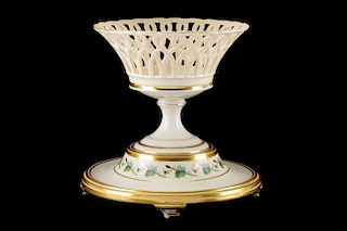 Royal Vienna Plateau Stand w/Reticulated Compote