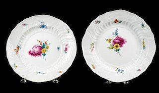 Pair of Meissen Porcelain Soup Plates, Circa 1790