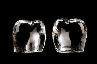 Pair of Baccarat Crystal Modern Elephant Figurines