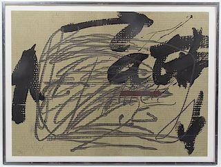 * Antoni Tapies, (Spanish, 1923-2012), Sin Titulo