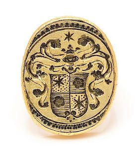* A Yellow Gold Signet Ring, 24.80 dwts.
