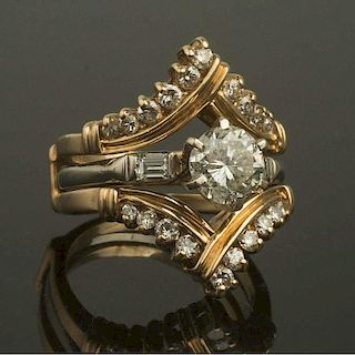 14K Gold & Diamond Ring & Jacket
