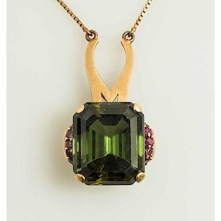 Tourmaline and Ruby Necklace