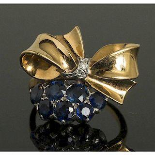Bailey, Banks & Biddle Sapphire Diamond Ring