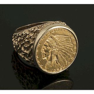 1925 $5 Indian Head Gold RIng