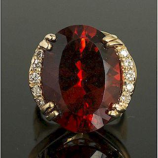 Sunstone Diamond Ring