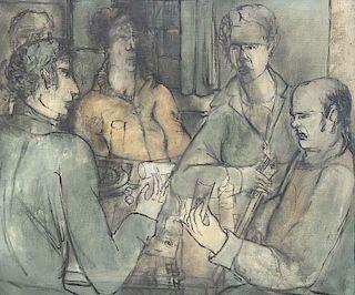 Schreiber, Otto Andreas Am Spieltisch. 1936. ül au