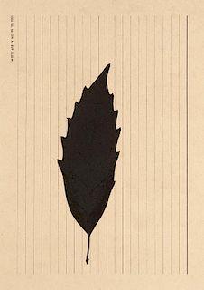 Beuys, Joseph Blatt. 1992. Serigraphie auf glattem