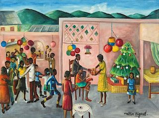 Wilson Bigaud (Haitian, 1931-2010) Christmas Celebration