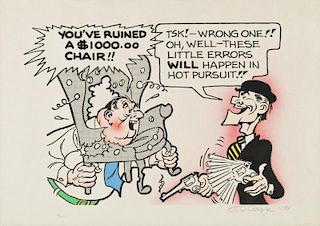 "Al Capp (1909-1979) ""You've Ruined a $1,000 Chair"""