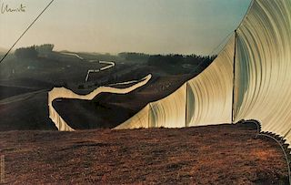 "Christo and Jeanne-Claude (b. 1935) ""Running Fence"""