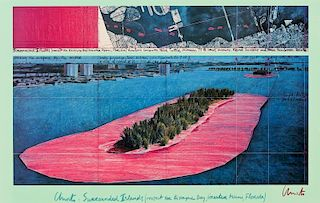 Christo and Jeanne-Claude (b. 1935) Surrounded Islands