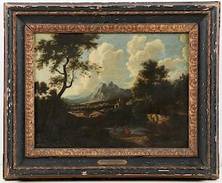 Attr. to Andrea Locatelli (1693-1741) Landscape