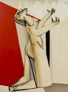Joseph Mellor Hanson, (American, 1900-1961), Figure Enmeshed, 1952