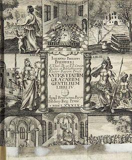 Pfeiffer, Johann Philipp Libri IV. Antiquitatum Graecarum Gentilium, Sacrarum, Politicarum, Militarium, Oeconomicarum. Mit ge