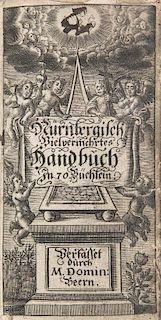 Beer, Dominikus Nuernbergisches Geist- und Lehrreiches neu vermehrtes Hand-Buch, in siebentzig nuetzliche Buecher abgetheilt