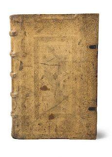 Lucas, FConcordantiae bibliorum sacrorum vulgatae editionis... Mit gestoch. Druckermarke auf Titel u. großer Holzschnitt-Dr
