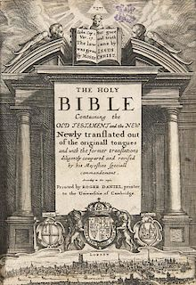 The Holy Bible. Containing the Old Testament and the New. Newly translated out of the originall tongues and with the former t