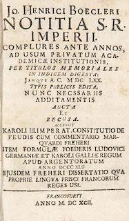 Boeckler, Johann Heinrich Notitia S.R. Imperii: Complures Ante Annos, Ad Usum Privatum Academicae Institutionis, Per Titulos