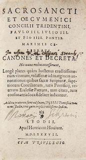 Sacrosancti et oecumenici Concilii Tridentini et oecumenici Concilii Tridentini, Paulo III., Julio III. et Pio IV. ... celebr