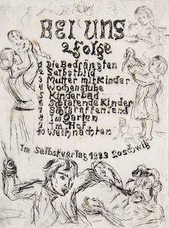 Schubert, Otto Schubert, Otto. Bei uns. 2. Folge. 10 Radierungen. 10 Blatt signierte Original-Radierungen (inkl. Inhaltsverze