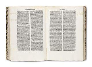 Albertus Magnus Summa de creaturis. 2 Tle. in 1 Bd (Tl. 1: De quatuor coequeuis, Tl. 2: De homine). Venedig, Simon de Luere f