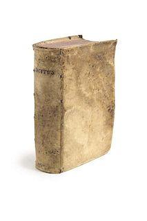 Les oeuvres de C. Cornelius Tacitus. Mit Holzschnitttitelvignette, -initialien und -buchschmuck. (Genf), Vignon, 1594. 4 Bll.