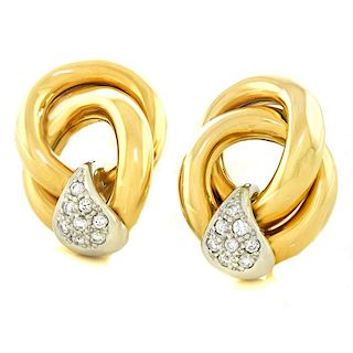 Diamond & Gold Earrings, 18k