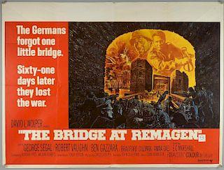 The Bridge at Remagen (1969) British Quad film poster, starring George Segal & Robert Vaughn, United Artists, folded, 30 x 40