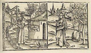 Boccaccio, GiovanniCento nouella (Hundert Hundert neuwer Historien ...). Fragment. Mit 21 Holzschnitten u. teils bewohnten H
