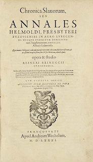 Helmold von Bosau und Arnold von LuebeckChronica Slavorum, seu annales ... opera & studio R. Reineccii Steinhemii. Accessit