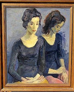 Moses Soyer (1899-1974) Dancers Oil Painting
