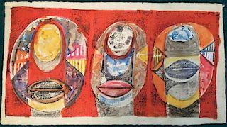 Avinash Chandra Modernist Indian Painting 1960