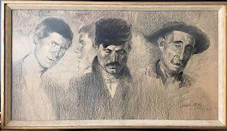 Joseph Stella (1877-1946) Pittsburgh drawing (LARGE)