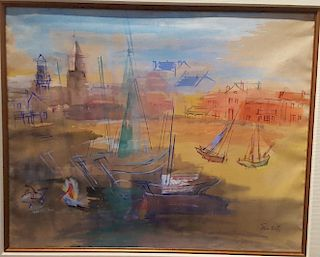 Jean Dufy (1888-1964) watercolor painting