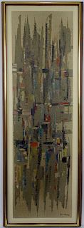 Abdelkader Guermaz (Algerian French, 1919–1996) Arab Modern painting