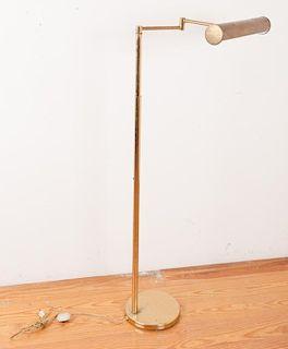 Walter Von Nessen Model 953 Brass Floor Lamp