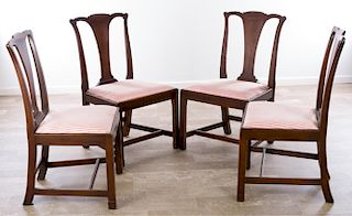 Petersburg School Chippendale Chairs, Circa 1790
