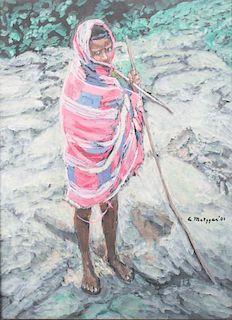 Evelyn Metzger Child Portrait Oil on Panel & Book