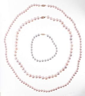 Freshwater Pearl Necklaces and Bracelet