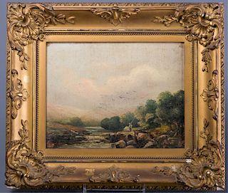 Higgs Oil on Panel Landscape